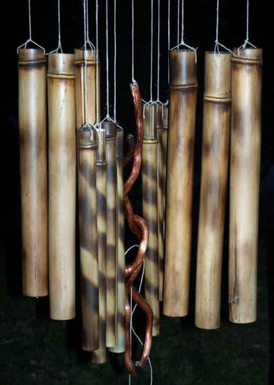 Wind chime mobile bamboo arts and crafts gallery for Bamboo arts and crafts