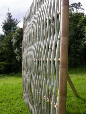 Woven Split Bamboo Fence Panel Bamboo Arts And Crafts Gallery