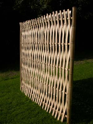 Reverse Side Of Woven Bamboo Fence Panel Bamboo Arts And