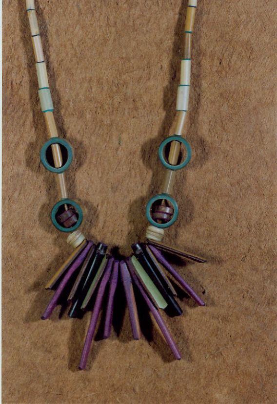 Necklace with bamboo pendants bamboo arts and crafts gallery for Bamboo arts and crafts