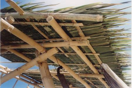 Bamboo roof thatching bamboo workshop gallery for Bamboo roofing materials